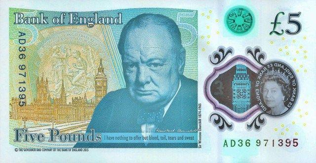 Reino Unido emite nuevo billete de 5 libras