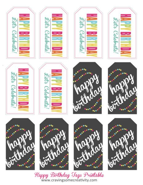 Quick Classroom Ideas : Quick easy classroom birthday treats tags
