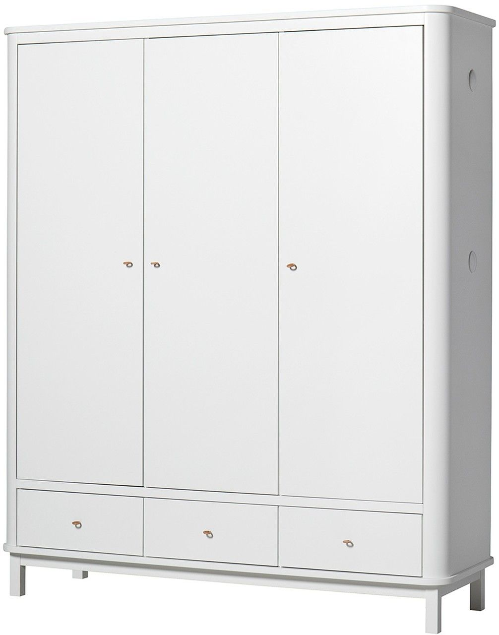 Oliver Furniture Kleiderschrank Wood 3 Türig Weiß Weiß Kleiderschrank Kleiner Kleiderschrank Kinder Kleiderschrank