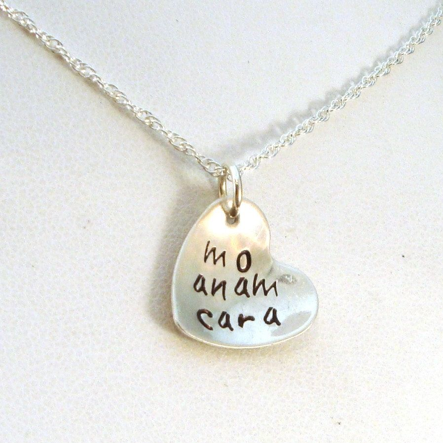Mo Anam Cara Heart Necklace in Sterling Silver Sterling