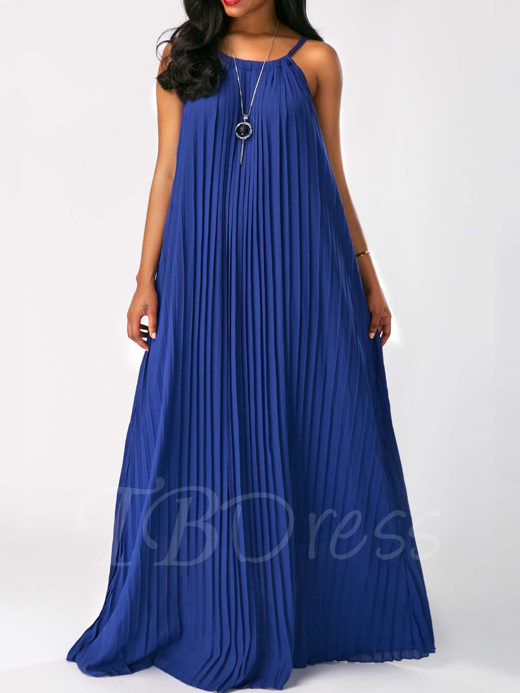 Royal Strappy Pleated Women S Maxi Dress Maxi Dress Royal Blue Maxi Dress Shop Casual Dresses [ 2800 x 2100 Pixel ]