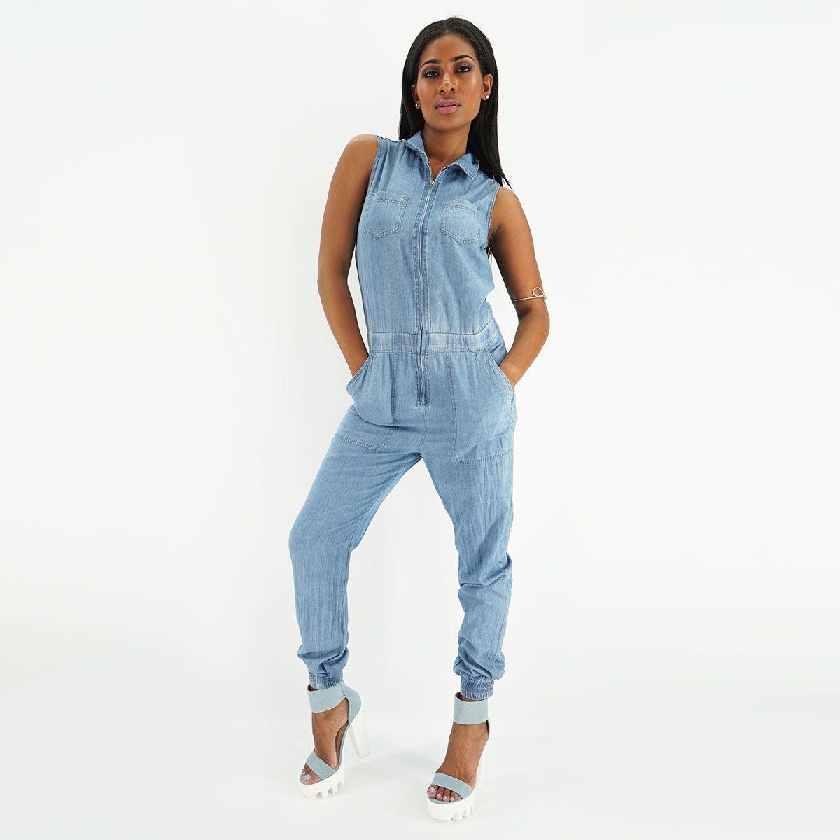 Denim Jumpsuit | Shop at YCMC.com #DenimOnDenim #Classic #Jumpsuit #Streetwear #MissYCMC #WomenTrend
