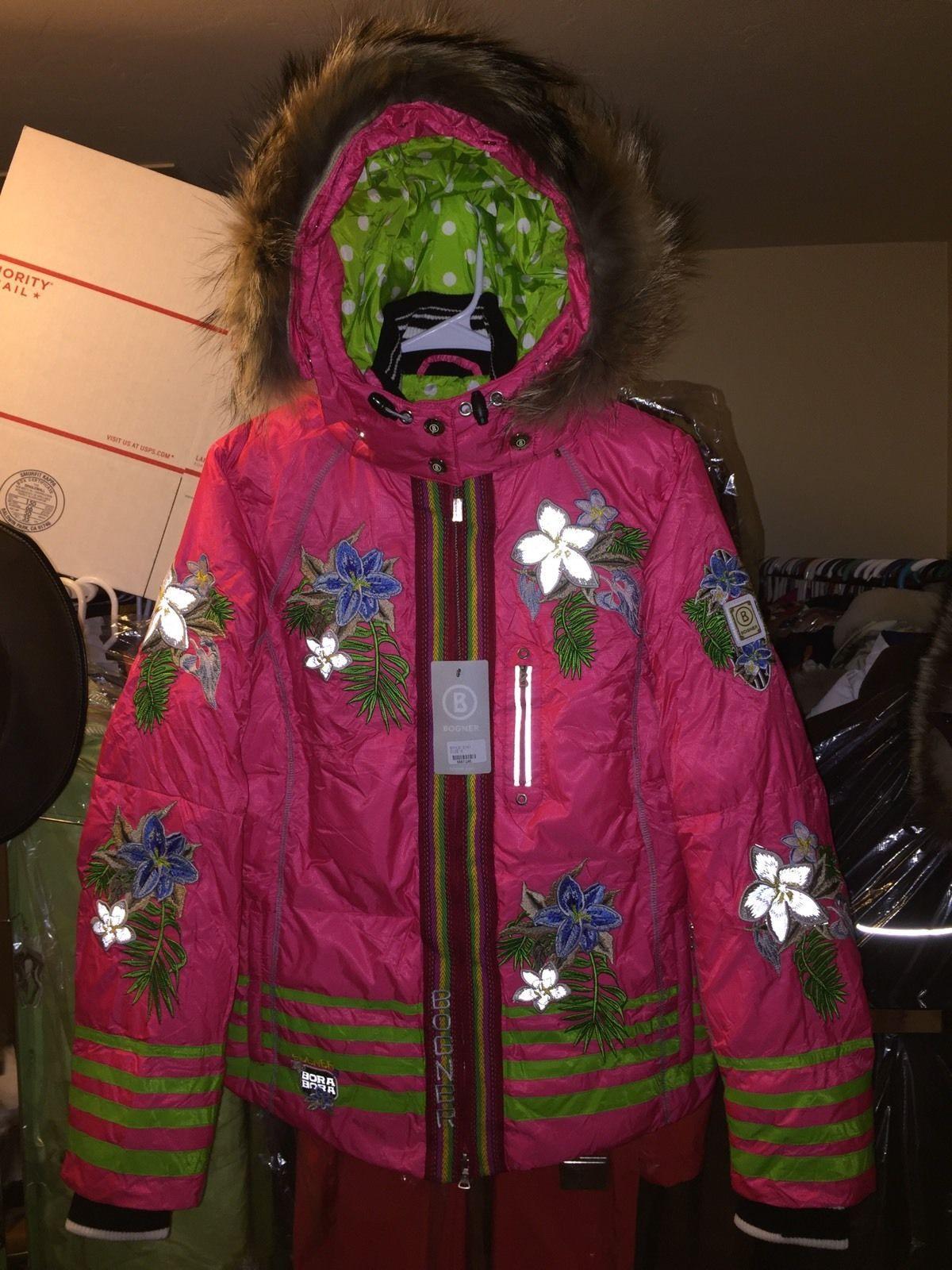 am billigsten besondere Auswahl an Schlussverkauf New small medium fur bogner womens ski snowboard jacket coat ...