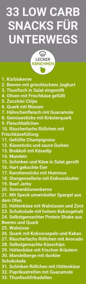 33 gesunde und leckere Low Carb Snacks #lowcarbveggies
