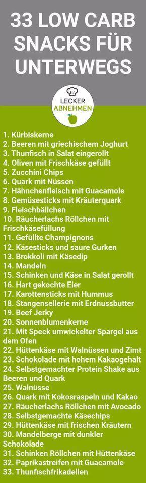 33 gesunde und leckere Low Carb Snacks #nocarbdiets