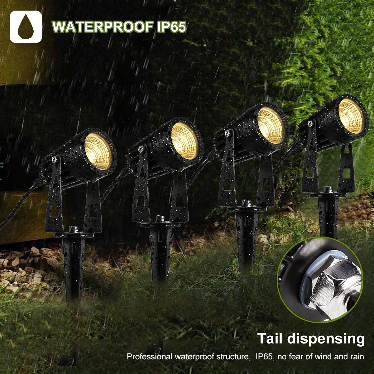 4packs Outdoor Led Landscape Lights Progreen 12v 1080lumen Waterproof Garden Path Lights 3000k Warm White Decorative Lamp Wall Light W Spiked Stand For Lawn Garden Path Lighting Led Landscape Lighting Landscape