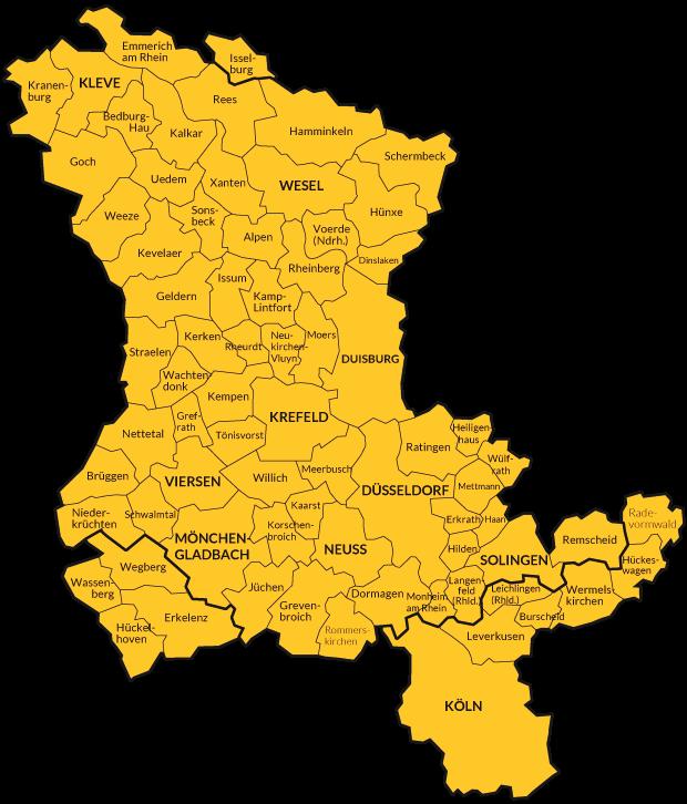 Karte Niederrhein.Linker Niederrhein Karte Nrw Bilder Nordrhein Westfalen