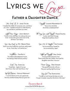 Best Daddy Daughter Dance Wedding Songs