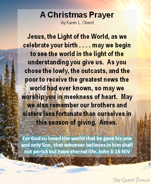 A Christmas Prayer: Jesus the Light of the World - pinned from the ...