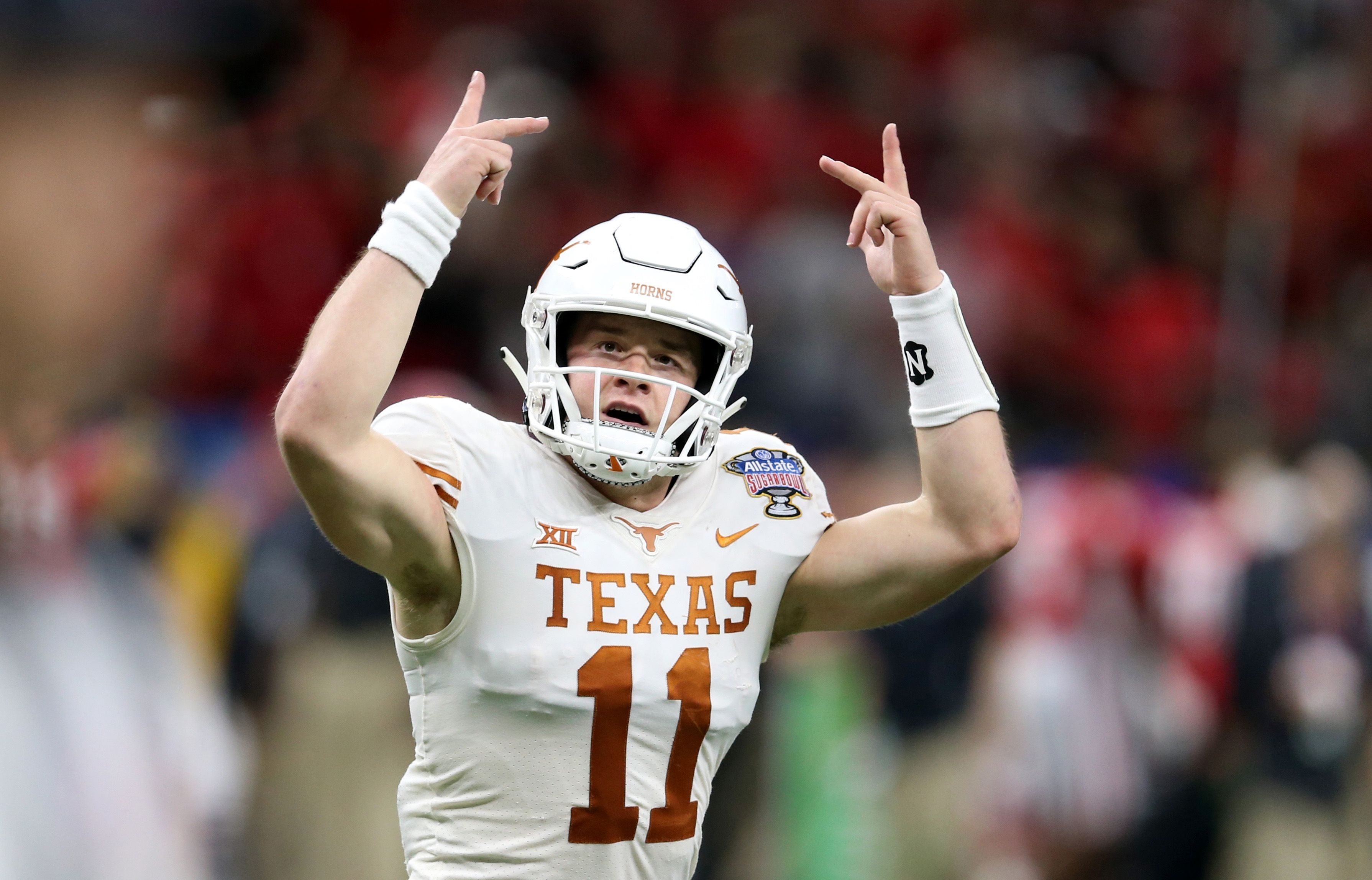 Longhorn Nation We Re Back Sam Ehlinger Powers Texas Past Georgia In Sugar Bowl Texas Football Longhorn Texas