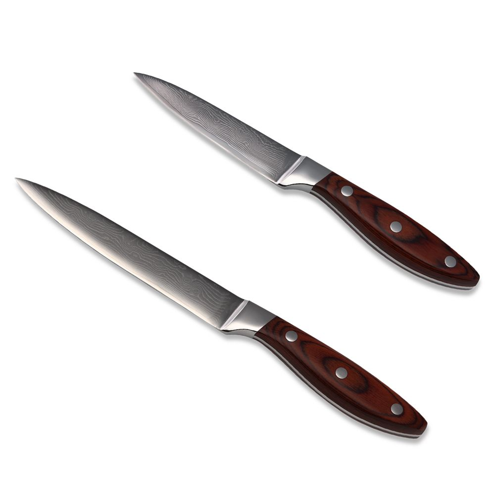 Kitchen Knife Set Inch Utility Paring Damascus Online Buy Wholesale Knives From China