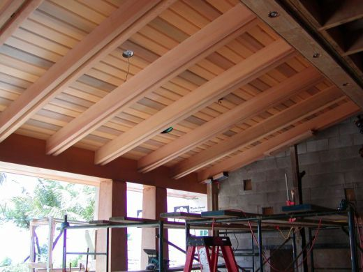 Roofed Pergola Attached To House