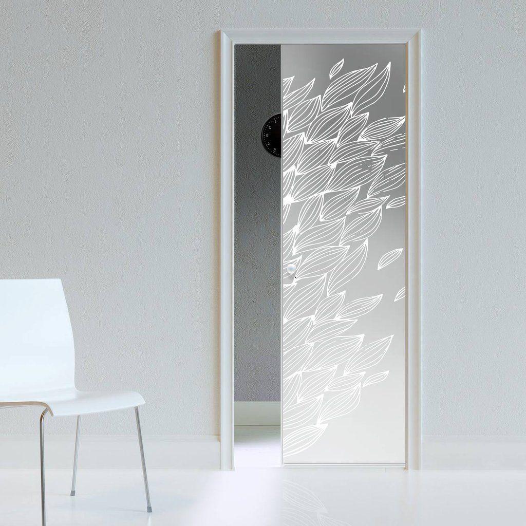 Eclisse 10mm Pupa Sandblasted Design On Clear Or Satin Glass Pocket