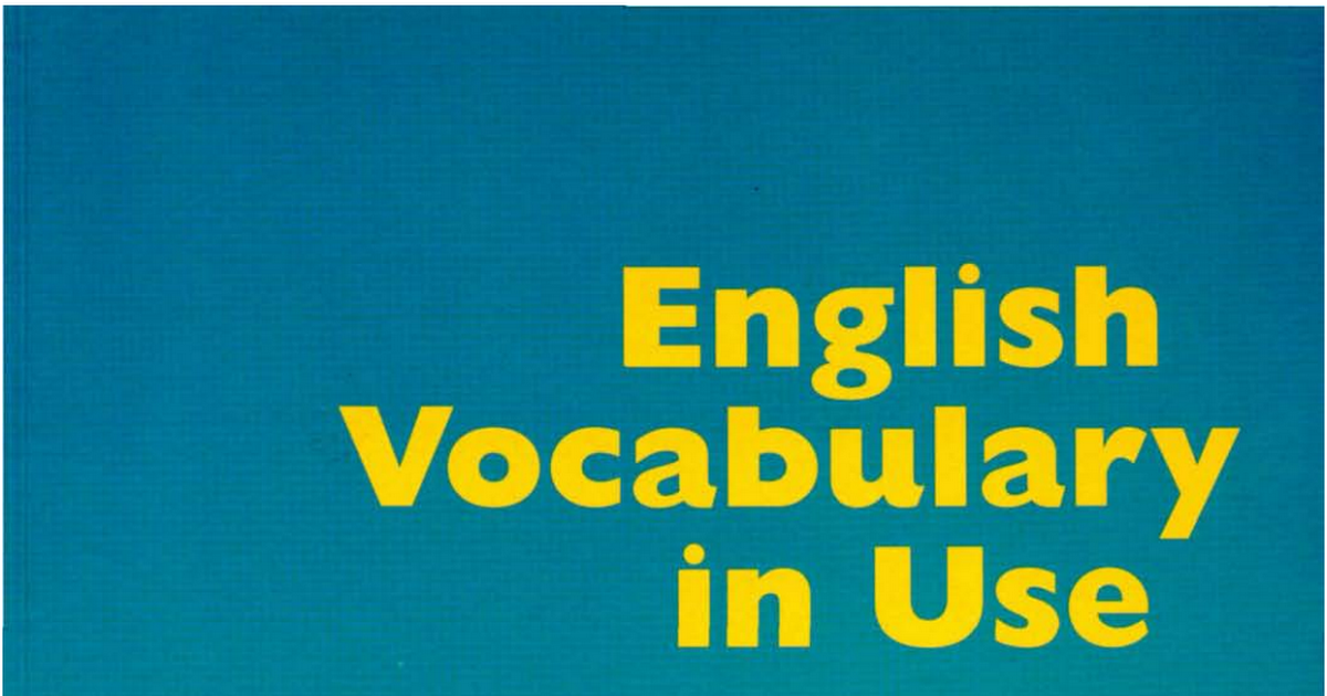 The Languagelab Library English Vocabulary In Use Pre