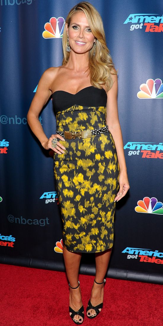 Look of the Day: August 1, 2013 - Heidi Klum : InStyle.com