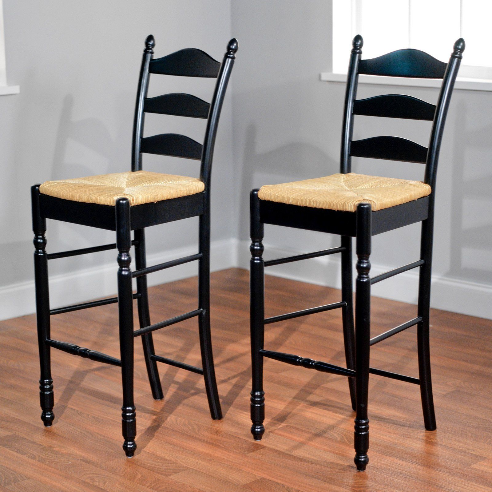 30 in. Ladder Back Bar Stool Set of 2 (With images