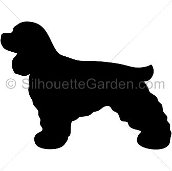 Cocker Spaniel Silhouette Spaniel Art Animal Silhouette Dog Quilts