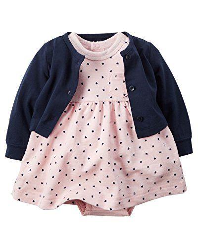 Carter-Baby Mädchen-Kleid mit Body- und Veste-Kleid 100% ... https ...