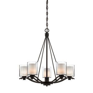 Minka Lavery Parsons Studio Smoked Iron Nine Light Two Tier Chandelier On SALE