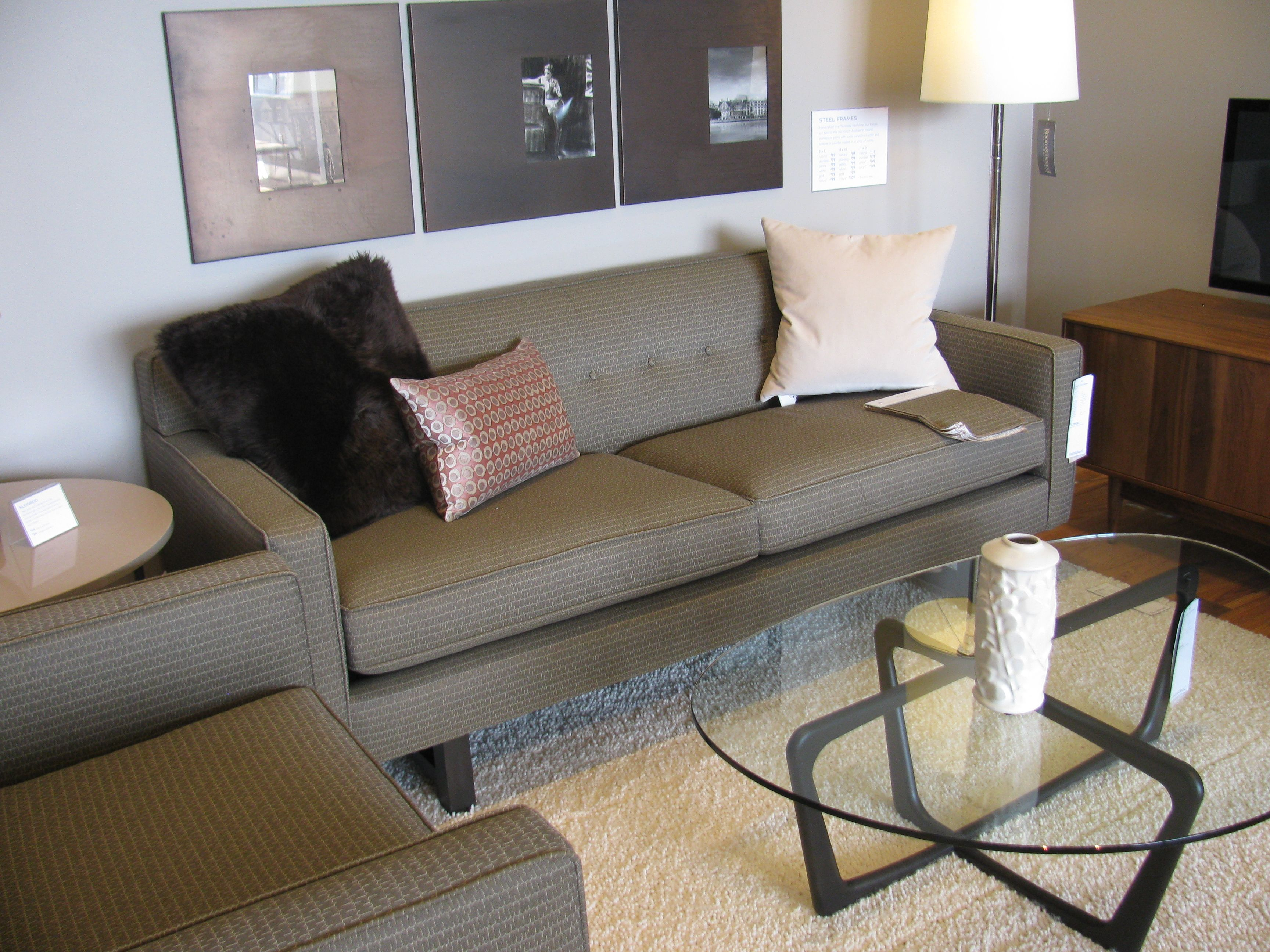 room and board metro sleeper sofa modern wood leather andre living pinterest