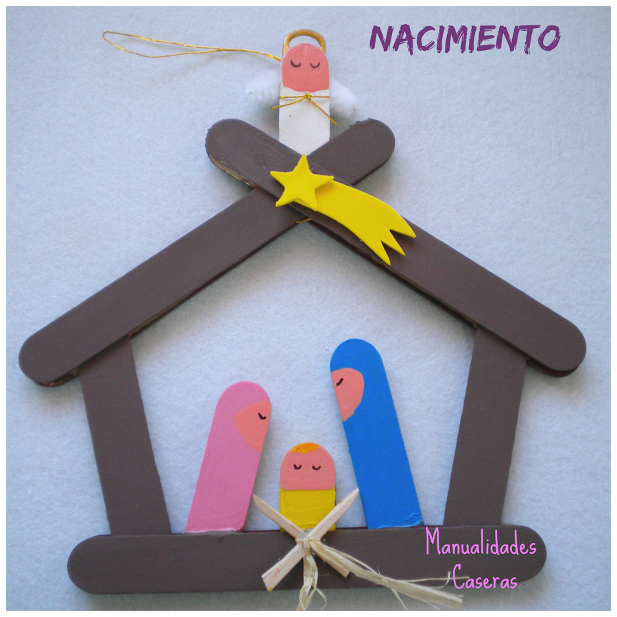 Cómo Hacer Un Divertido Portal De Belén Con Palos De Helados Sencillo Y Rápido Ideal Para Ni Popsicle Stick Christmas Crafts Christmas Crafts Holiday Crafts