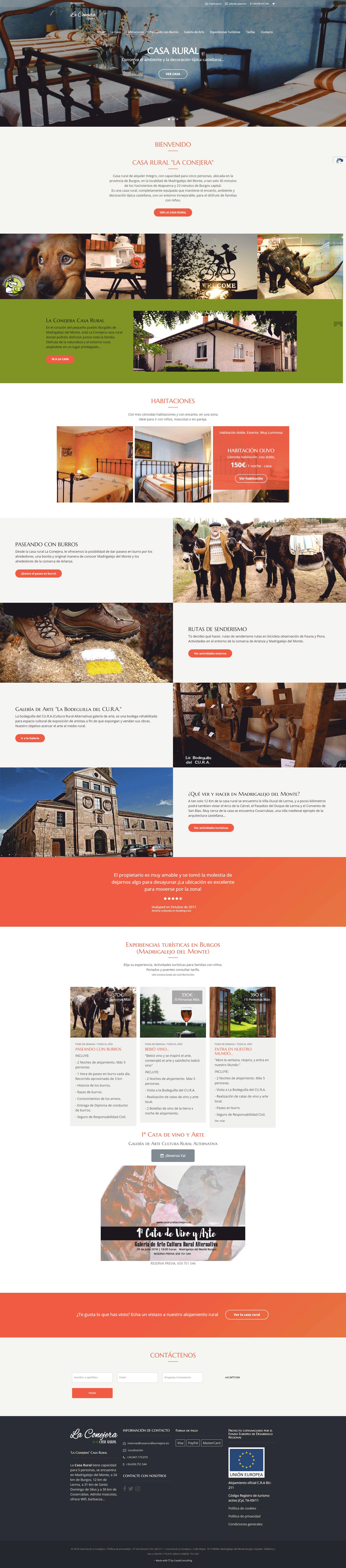 Nuevo Diseño Web Casa rural La Conejera
