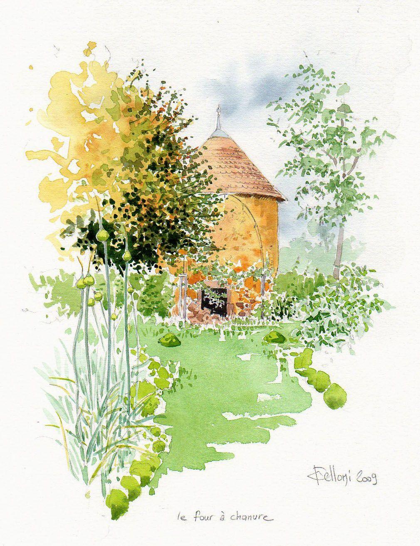 Jardins Et Paysages Croquis De Paysage Dessin Paysage