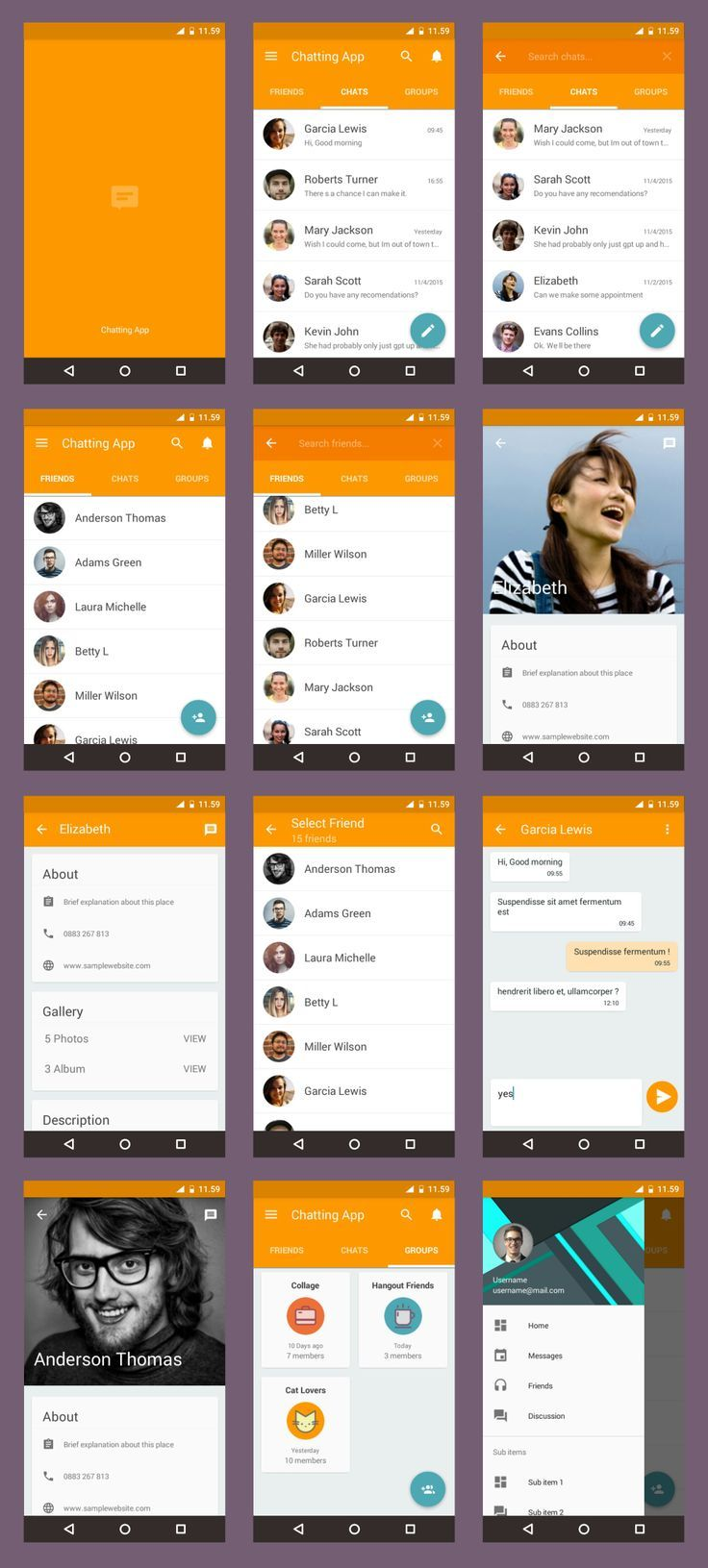 description android material ui template is example implementation material design in various app this ui - Ui Design Ideas