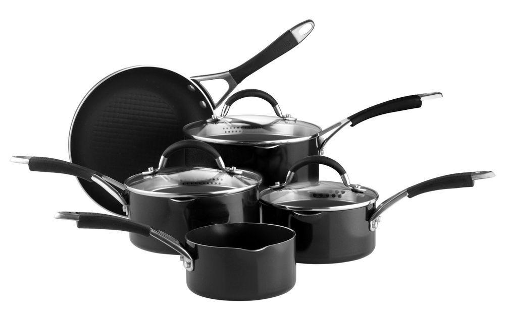 Prestige Inspire 5 Piece Cookware Set Kitchen Non Stick Pan Pots