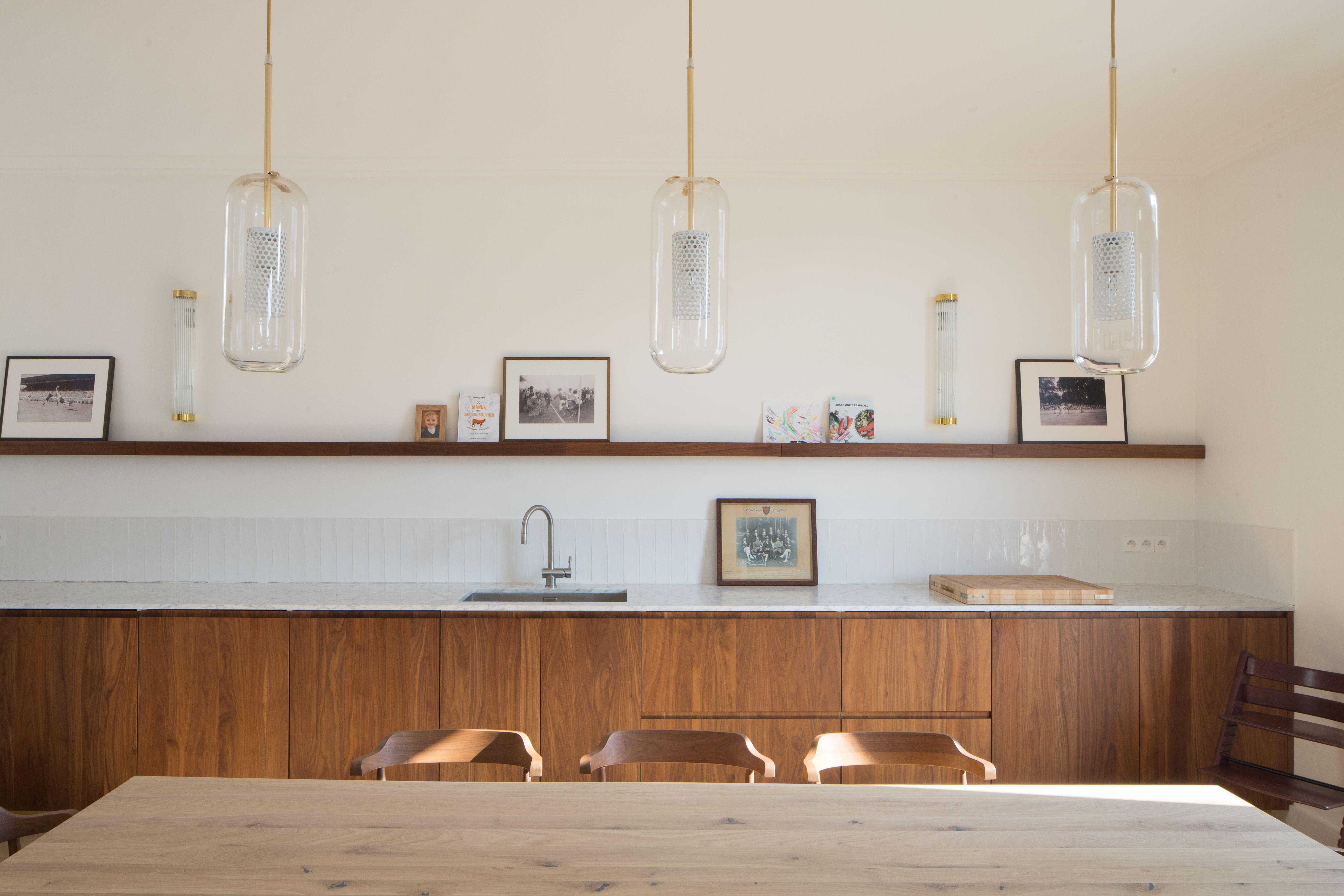 Bateaumagne Architecture Molitor Cuisine Noyer Massif Pland E