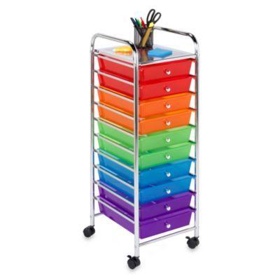 Honey Can Do Steel 10 Drawer Rolling Storage Cart   BedBathandBeyond.com