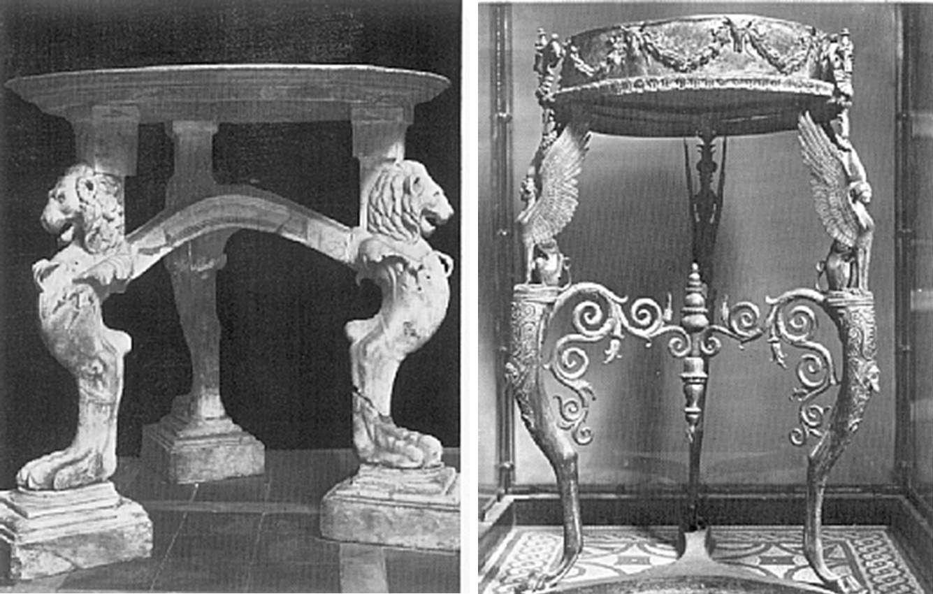 Tripodes Romanos Roma Estilos Decorativos Pinterest  # Saqqara Muebles Y Decoracion