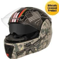 Check out Hawk Officially Licensed Afghanistan War Graphics Advance Dual Visor Modular Helmet on LeatherUp.com!