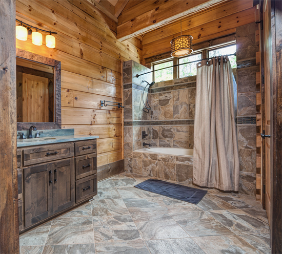 Attirant Rustic Cabin Bathroom
