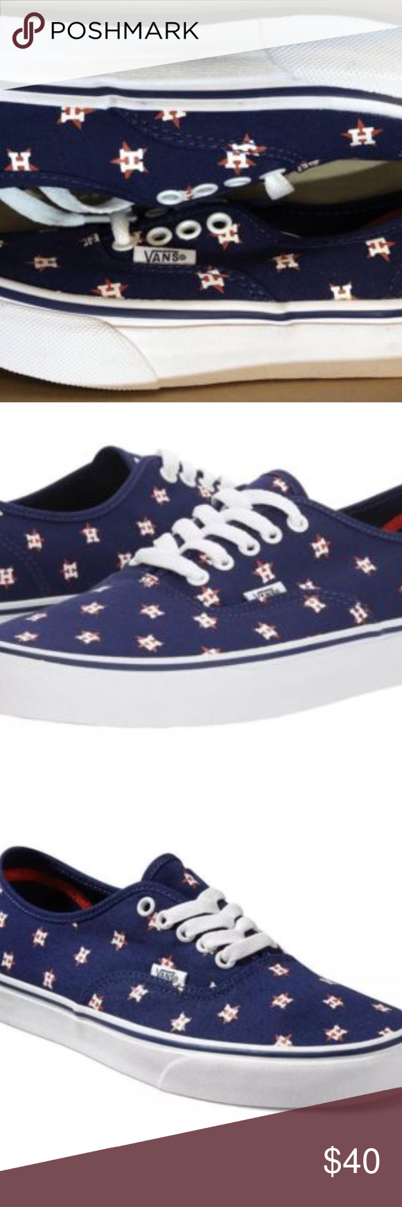 3671771e01e Vans Authentic MLB Houston Astros Canvas Navy🌹 Vans Authentic MLB Houston  Astros Canvas Casual Navy Skate Shoes Kids Size 11.5 Brand new in box Vans  Shoes ...