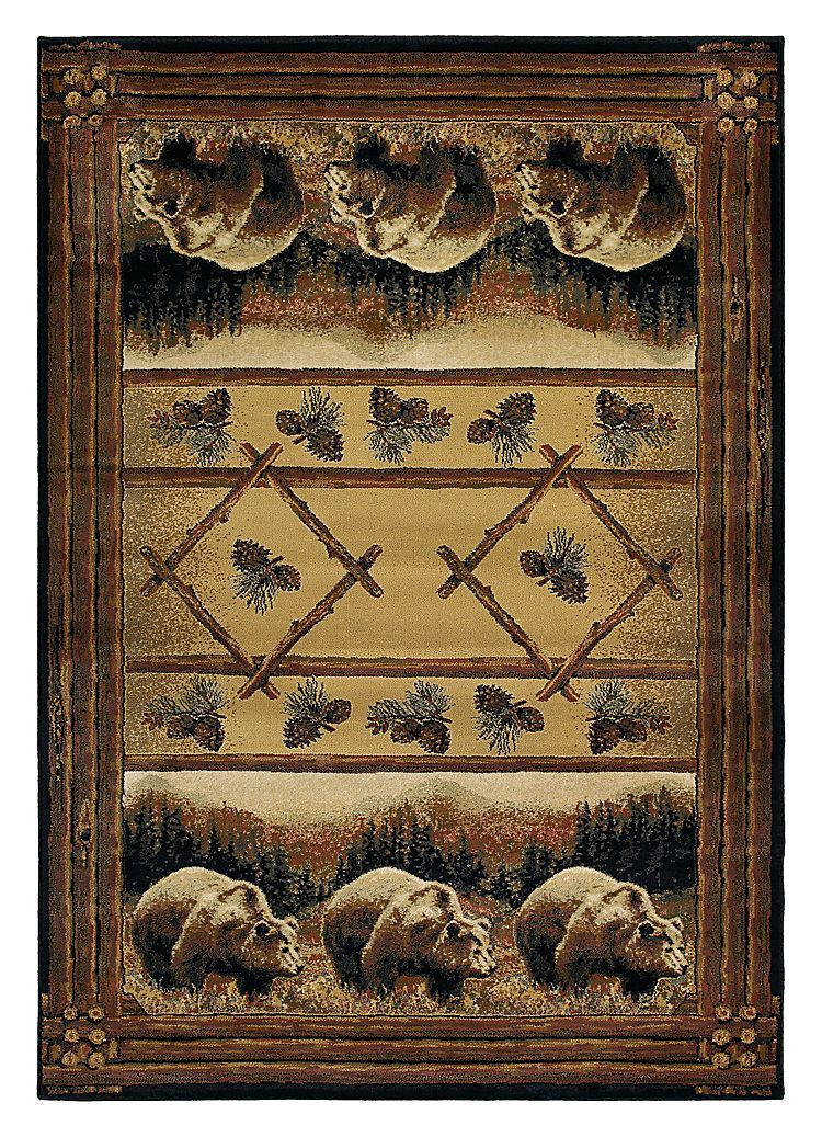 Lodge Themed Area Rugs Grizzly Pines Bass Pro Shops The Best