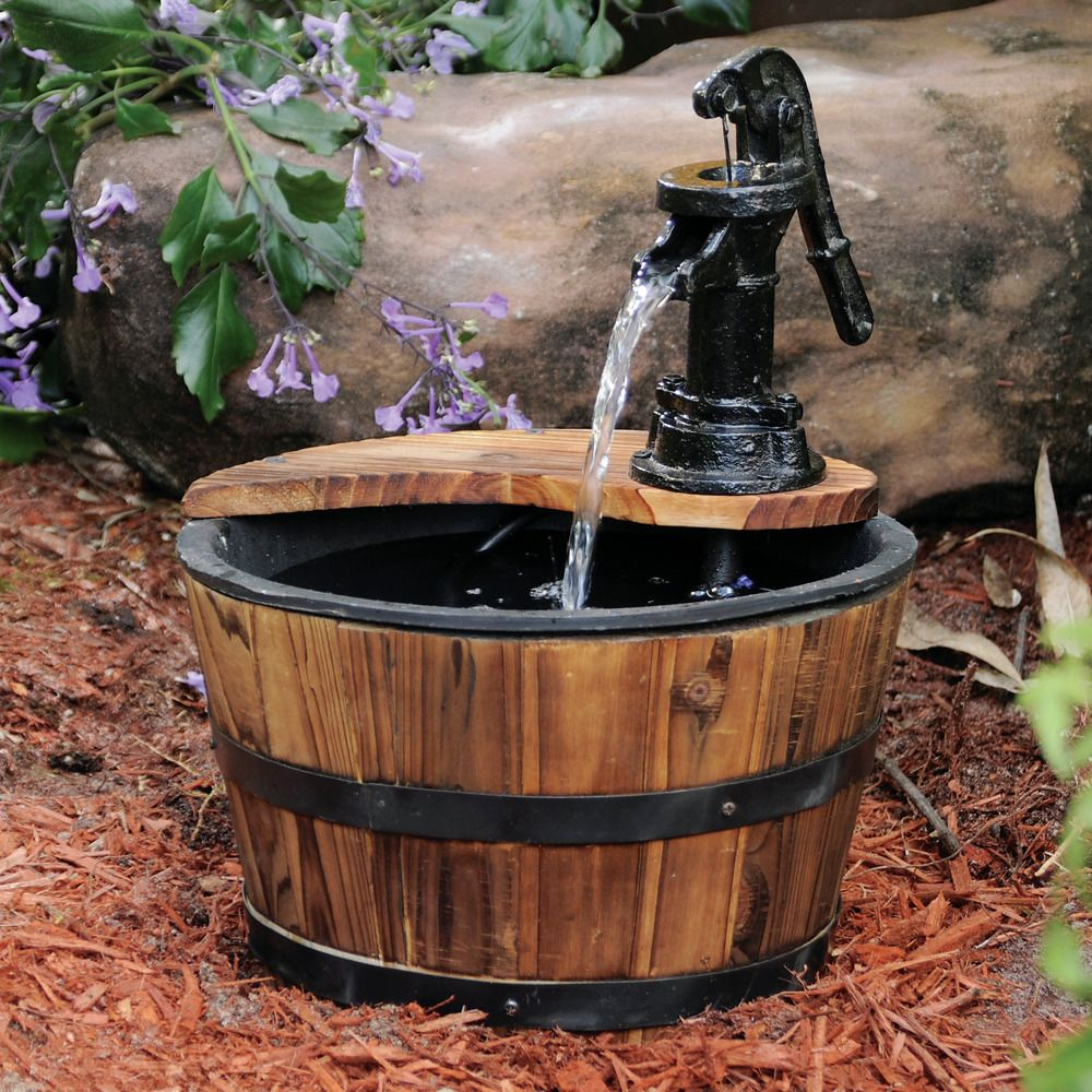 Old Tyme Small Whiskey Barrel Fountain #smartpond #whiskeybarrel ...