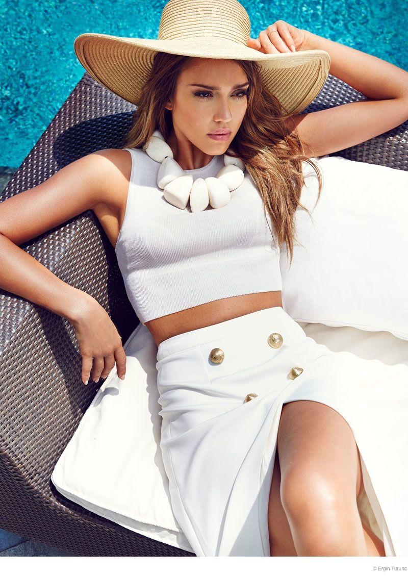 8dbacdee09e3 Jessica Alba Poses Poolside for Cosmopolitan Turkey by Ergin Turunc ...