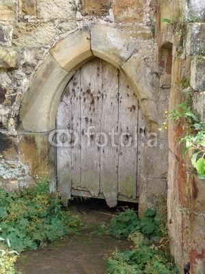 Explore Wooden Doors Stock Photos and more! & wooden door in old castle wall © thomas owen | Knock and the door ... pezcame.com