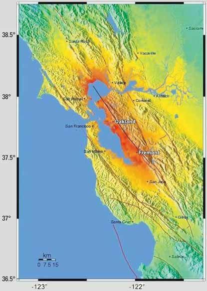 Shake map Loma Prieta 6th grade Plate Tectonics Pinterest