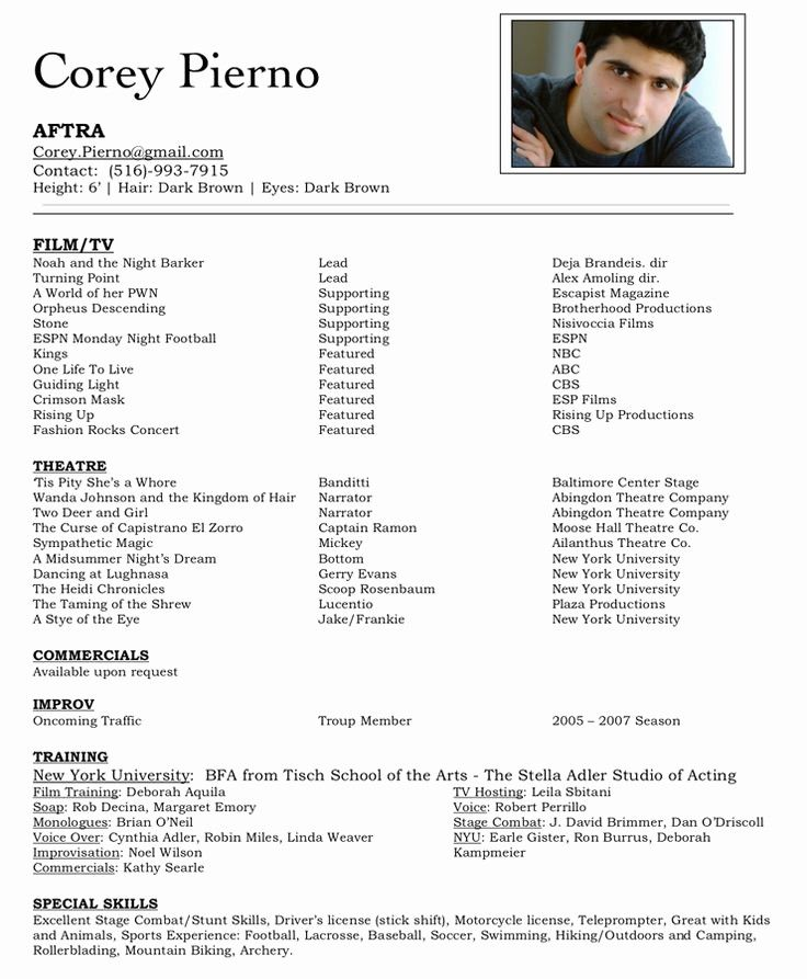 50 luxury child actors resume template in 2020 with