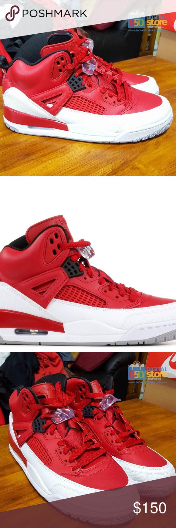 more photos 3f1b9 94b58 Air Jordan Spizike Red White size 10.5 315371-603 Nike AIR JORDAN SPIZIKE  BULLS Basketball