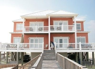 Beautiful Gulf Front Duplex In Morgantown Gulf Shores Al Morgantown Coastal House Plans Beach House Plans Modern Beach House