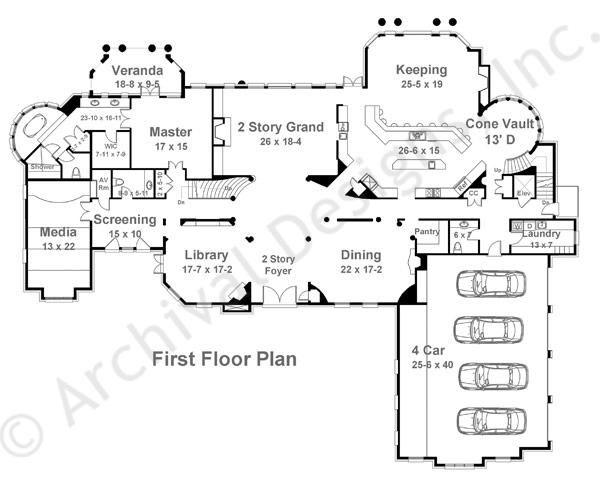 Bellenden Manor House Plan First Floor Plan