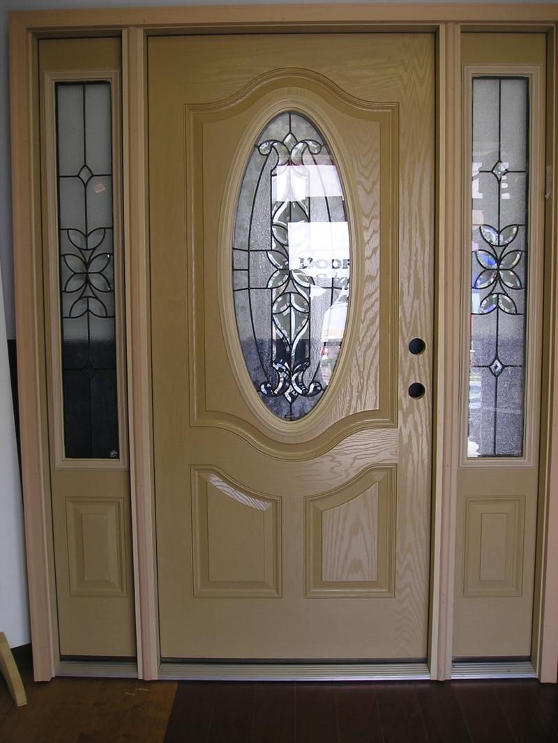 Interior interesting image of single light oak wood fiberglass steel entry door along with Best varnish for exterior doors