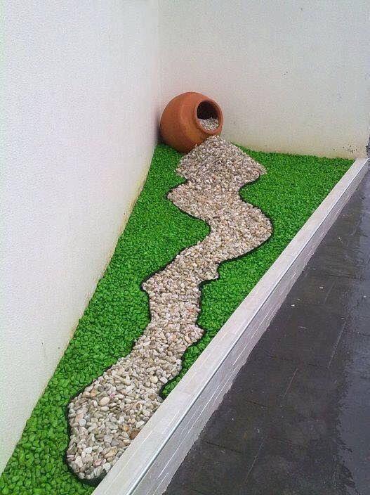 Decoraci n de jardines con piedras de colores by for Como decorar mi jardin con piedras y plantas