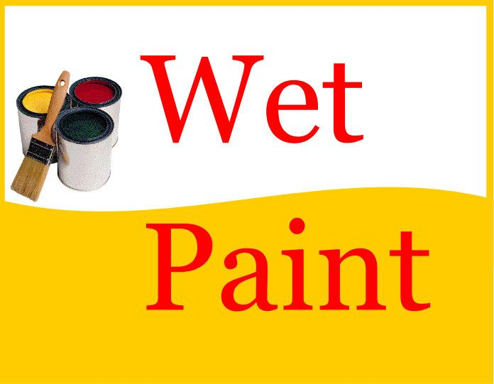 Printable PDF Wet Paint Sign