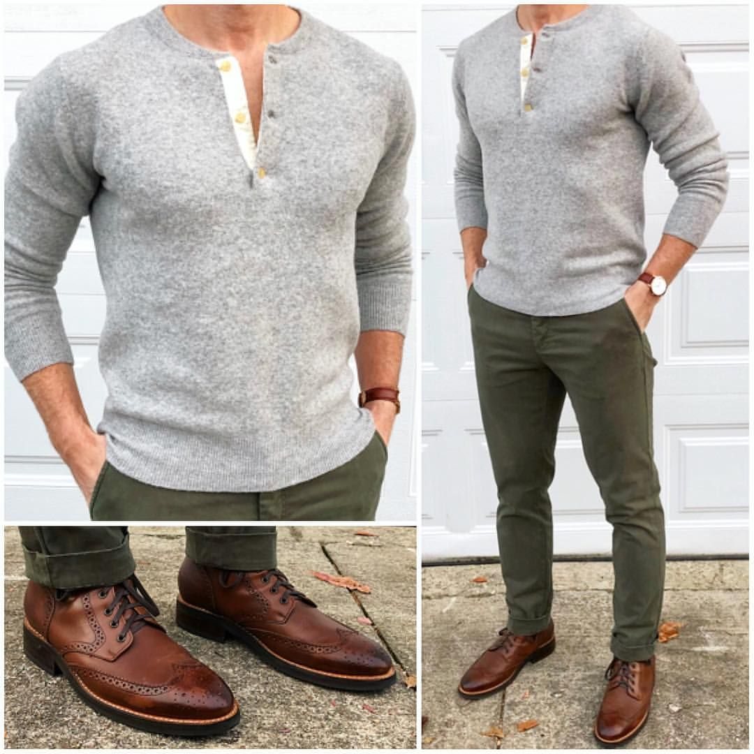 zapatos verde Gris Café pantalón Pantalón Suéter gris Hombre Pantalón Hombre cafe olivo qEWI4