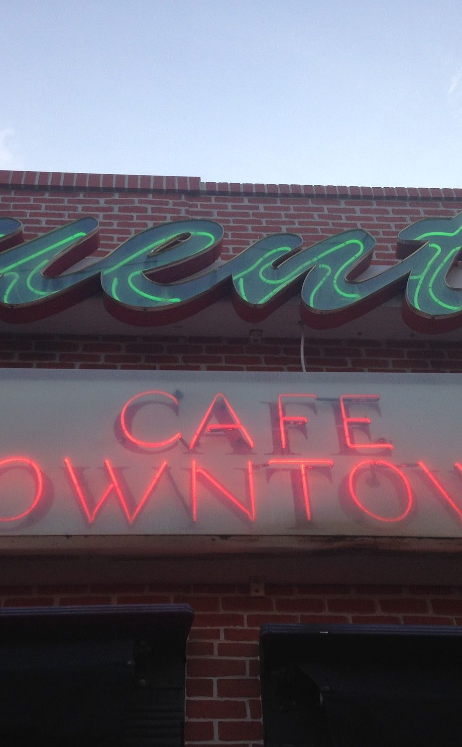 Fuentes Cafe Downtown American food restaurants, Road