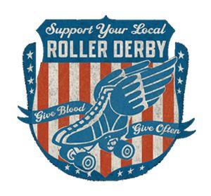 Roller Derby Derby Girl Orange Juniors Soft T-Shirt